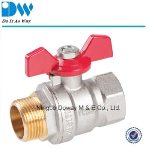 Forged Brass Ball Valve with Butterfly Handle pictures & photos