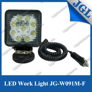 27W Magnet Base LED Work Light Spot/Flood Beam