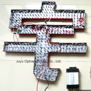 12mm Seven Color High Quality Exposed LED Luminous Letter pictures & photos