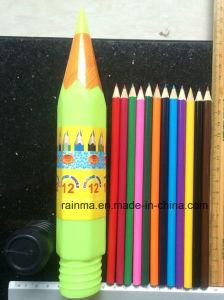 12 PCS Color Pencil in Plastic Rocket Tube Holder pictures & photos