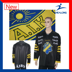 Healong Customized Sportswear Sublimation Printing Reversible Hockey Jersey pictures & photos