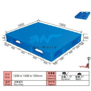 Flat Surface Cross-Base Plastic Pallet Dw-1210b4 pictures & photos