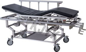 Stainless Steel Rise and Fall Stretcher Trolley pictures & photos