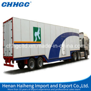 Tri Axles Van/Cargo Box Semi Trailer with Heavy Duty Suspension pictures & photos