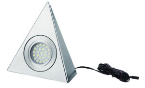 CE GS Certificate Stainless Steel 1.8W Triangle LED Cabinet Light