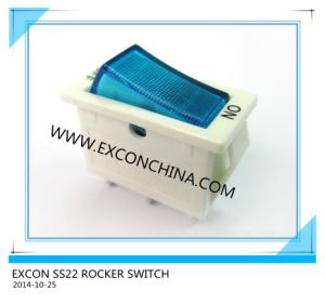 16A Hight Rating Rocker Switch Ss22 Switch for Power Socket Outlet
