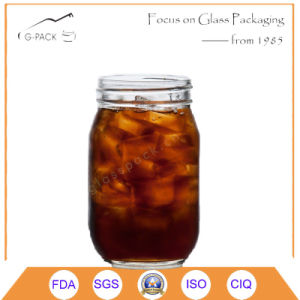 16oz Glass Mason Drinking Jar with Cap pictures & photos