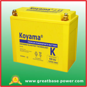 Good Quality Maintenance Free Motorcycle Battery 12V 22ah pictures & photos
