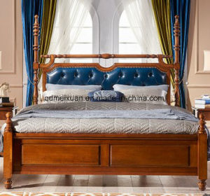American Bed Door of Completely Real Wood Double High Box Bed Manufacturer Provides Straightly (M-X3783) pictures & photos