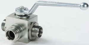 3way Ball Valve with Mounting Holes pictures & photos