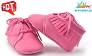 Wholesale Soft Soles Lace-UPS Children′s Shoes Indoor Toddler Baby Shoes pictures & photos