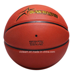 Custom Genuine PU Leather Basketball Ball in Bulk pictures & photos