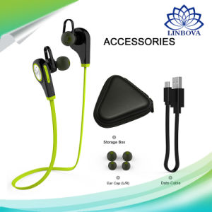 Mbh6 Sports in-Ear Stereo Earbuds Headset Wireless Bluetooth Earphone with Mic pictures & photos