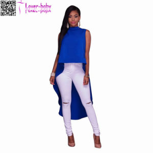 Doria Drastic Hi Low Hem Cobalt Top L577 pictures & photos