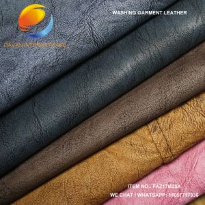 Nice Synthetic Leather for Garment with Viscose Backing Faz17m25A pictures & photos