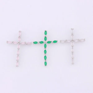 Hot Trendy Semi Precious Stone Jewelry Gemstone Cross Pendant pictures & photos