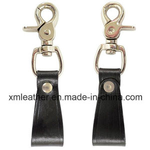 Chinese Professional Leather Keychain Hooks Snap Key Ring pictures & photos