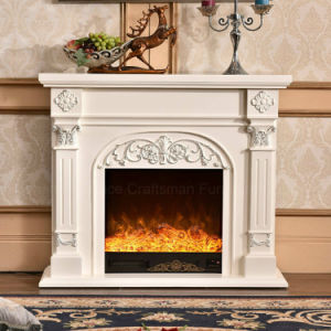 European Wood Furniture 3D LED Lights Heater Electric Fireplace (337) pictures & photos