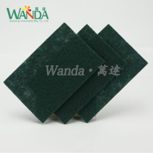 Non-Abrasive Dark Green Scouring Pad Household Cleaning Products pictures & photos