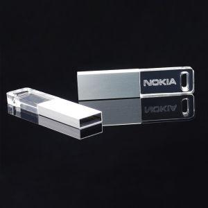 Acrylic Bulk USB Flash Drive 128MB 256MB 1GB 2GB 4GB 8GB 16GB Transparent USB Drives with LED Light Factory Price pictures & photos