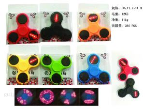 Hand Spinner/ Plastic Colorful LED Fidget Spinner pictures & photos