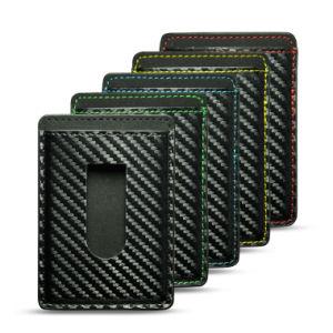 Thumb Slider Good Performance Carbon Fiber Card Holder Wear-Resistant Business Holder pictures & photos