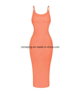 Two Color Women`S Slip Dress pictures & photos