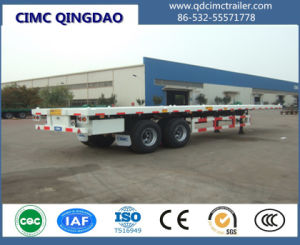 20/40/45FT Container Trailer, Flatbed Container Semi Trailer pictures & photos