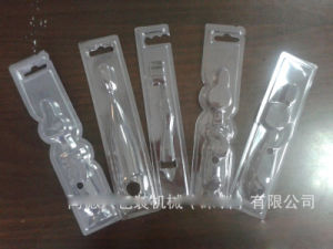 Custom plastic toothbrush packing box (PVC tray) pictures & photos