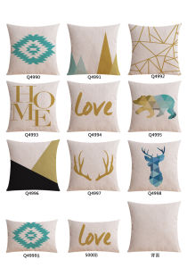 Deluxe Cotton Linen Throw Pillows Covers for Bed Clearance pictures & photos