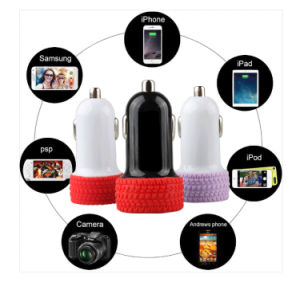 Tires Type Dual USB Car Charger, Charger Plug Car Plug in Charging with Dual Port for Mobile Phone pictures & photos