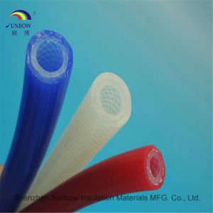 Extruded FDA Approval for Coffee Maker Braided Reinforced Silicone Rubber Tube pictures & photos