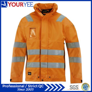 Waterproof Safety High Visibility Hi Vis PU Rain Jackets (YFG115) pictures & photos
