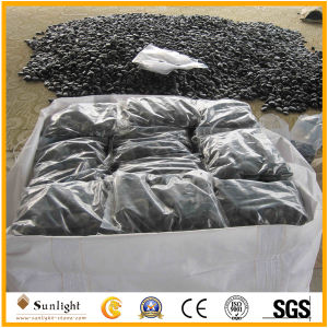 Unpolished Natural Stone Black River Pebble for Garden Paving pictures & photos
