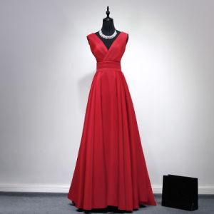 Garment Customization Deep V Long Evening Dress pictures & photos