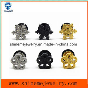 Shineme Fashion Jewelry Stainless Steel Flower Shape Ear Stud Er2918 pictures & photos