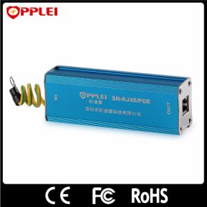 RJ45 Ethernet 100Mbps Single Channel POE Lightning Protection SPD pictures & photos