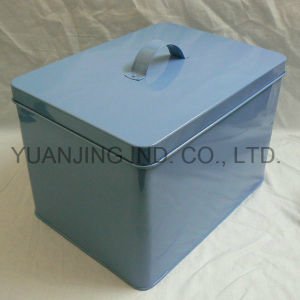 Hot Sell Household Storage Box with Lid Metal Breadbox pictures & photos