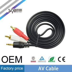 Sipu Wholesale 3RCA to 3RCA 3.5mm Audio Plug AV Cable pictures & photos