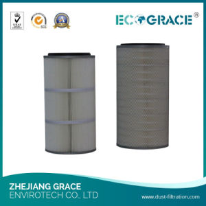 Textile Industrial 0.2 Micron Polyester (PE) Pleated Dust Cartridge Filter pictures & photos