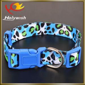 Custom Nylon Webbing Logo Printed Dog Collar Bulk pictures & photos