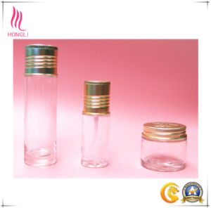Clear Glass Container with Hot Stamping Aluminum Caps pictures & photos
