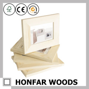 Brown Wooden Picture Photo Frame with Mat for Promotional Gift pictures & photos