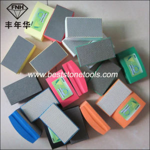 Abrasive Electroplated Diamond Hand Polishing Pads for Glass and Stone Grinding