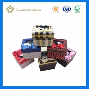 OEM Topper Birthday Gift Paper Box with Clear Window pictures & photos