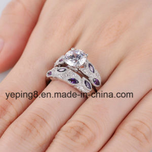 Purple Leaf Design Bridal Ring Set - 40 pictures & photos