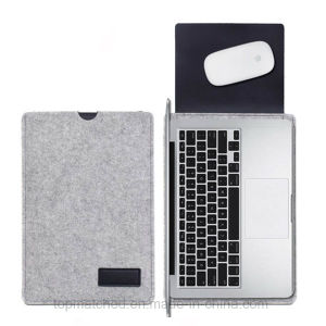 New Arrival Wool Felt Laptop Case Bag for MacBook Air 11 Inch to 15 Inch pictures & photos