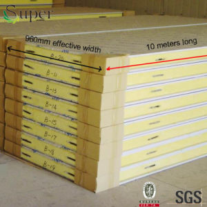 Polyurethane PU Steel Sandwich Board for Cold Storage Houses pictures & photos