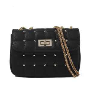 Quilted PU Chain Geniune Leather Bag
