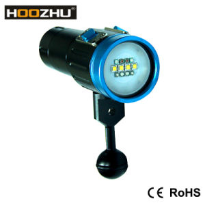 Hotest Hoozhu V13 Diving Video Light Max 2600lm Waterproof 120m Diving Lights with Five Color Light for Video pictures & photos